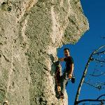 natural climbing wall