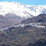 One of many villages on side of mountain