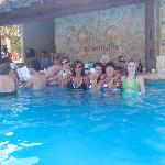 our group by the swim up bar