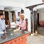 Reception desk  Sacred Valley Inn