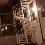 Staircase to third floor suites.