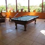 Pool table/hang-out area on 2nd floor.
