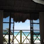ocean view from the bed
