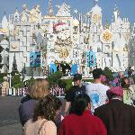 It's a Small World decorated for Christmas