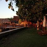 piscina, terraza y embarcadero
