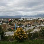 View of city and Beagle Channel from our room