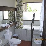 bathroom  (view of volcano also)