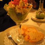 Shrimp & scallop w/a lime sauce