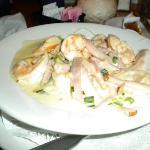 Sprimp & proscuitto....very very good