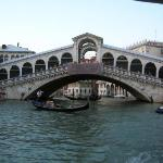 Rialto bridge... it's way bigger than it looks, it's lined  with some neat shops...