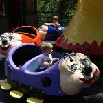 Garrett on the bug ride.