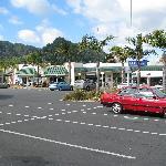 Shopping center across the street