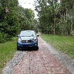 Polk County Florida, 1920's brick road called Old Dixie Highway