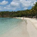 Picture of Honeymoon Beach where the ride ends