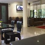 The hotel lounge area