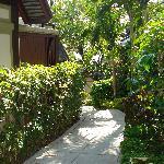 Pathways between groups of villas