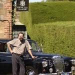 John and the Daimler at Henshcke Wines