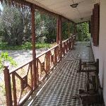 The front porch to our guestroom wing