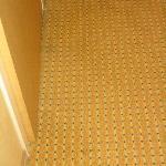 dirty carpet by the doorway