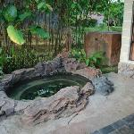 Outdoor whirlpool - water sourced from springs