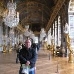 Standing in the Hall of Mirrors, Versailles.
