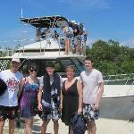In front of Captain Marvin's boat