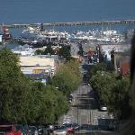 View from the Cable Car down to Fishermans Wharf