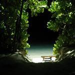Vista notturna dal bungalow