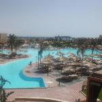 view of main pool from reception