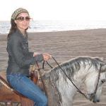 Sunset beach riding