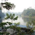 misty morning view over the river