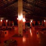 Beautiful dimly lit restaurant.