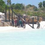 foto lavori in spiaggia