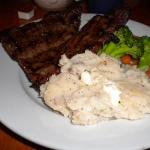 My hubby says the steak was very very tender and needed no steak sauce