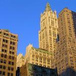 Downtown financial district
