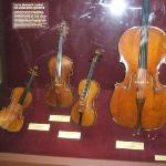 Artie took this picture of violins...for his Dad's wife, Luz.  I don't remember the signigicance