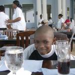 Big E loves fine dining  anywhere, he loved  this in Jamaica