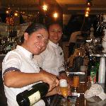 Erika & Maria at lobby bar hard at work.