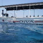 One of the dive boats