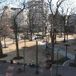 Balcony view of Court Square park