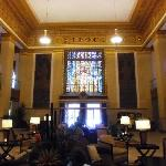 Cool stained glass in lobby