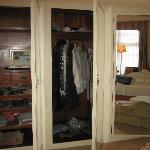 A couple of open closets - there were 2 rooms of them!