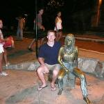 Me with Brigitte Bardot ... who apparently helped make Buzios into a famous town.