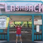 yours truly posing at the flashback.