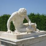 the Dying Gladiator in the gardens of Versailles