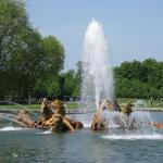 One of the many fountains in the gardens at Versailles