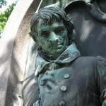Bronze statue at Pere LaChaise Cemetery