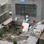 Jim Morrison's grave at Pere LaChaise Cemeter