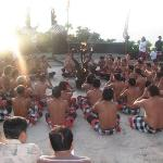 Kecak dance begins.. Using this dance they show the whole story of Ramayan to show how Ravan foo