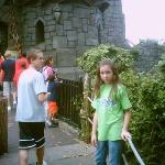 Alek and Autumn getting ready to ride the DUELING DRAGONS!!!